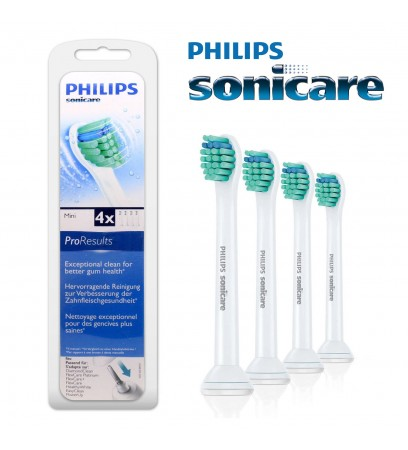 4 X Philips Sonicare Proresults Mini Electric Toothbrush Heads