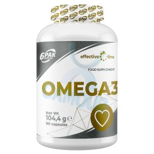 6PAK EL Effective Line Omega 3 Fish Oil 1000mg EPA DHA Fatty Acids 90 Capsules